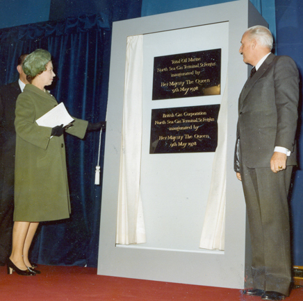 The Queen officially opens and inaugurates the St Fergus Terminal