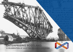 Front cover of the Enterprising Scotland business archives brochure